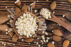 Small bowl with Minced Almonds Stock Photography
