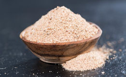 Small bowl with Nutmeg Powder Royalty Free Stock Photos