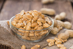 Small bowl with Peanuts royalty free stock photography