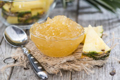 Small bowl with Pineapple Jam Royalty Free Stock Photo