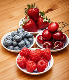 Small bowls of fruit Royalty Free Stock Photo