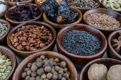 Small Bowls of Spices Stock Images