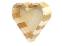 Small box. A small box as a heart is made from a tree royalty free stock images