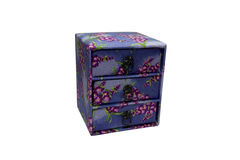 Small box. Small colorful box for jewellery isolated royalty free stock images