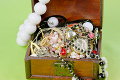 Small box with treasures Royalty Free Stock Images