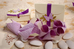 Small box used to hold sugared almonds Royalty Free Stock Photos