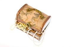 Small box with valuables Royalty Free Stock Photo