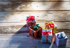Small boxes Royalty Free Stock Images