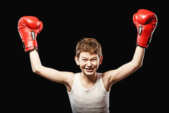 Small boxing champion Royalty Free Stock Photo
