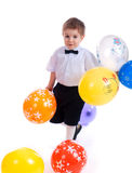 Small boy with air balloon Royalty Free Stock Photography