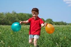 Small boy with air balloon. Royalty Free Stock Photos