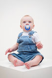 Small boy with baby's dummy Stock Photography