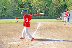 Small boy batting. Stock Photography
