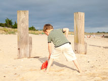 Small boy on a beach Royalty Free Stock Image