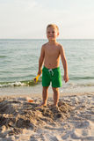 Small boy on the beach Royalty Free Stock Photography