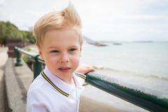 Small boy on the beach Stock Image