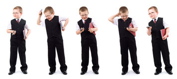 Small boy-businessman - set royalty free stock photo