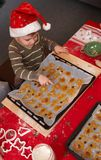 Small boy with christmas cake Royalty Free Stock Image
