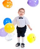 Small boy with colorful  air balloon. Stock Image