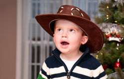 Small boy with a cowboy hat Royalty Free Stock Image