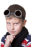 Small boy in dark glasses Royalty Free Stock Photos