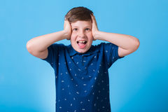 Small boy. With different emotions Royalty Free Stock Photo