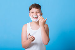 Small boy. With different emotions Stock Photos