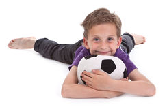 Small boy with football Stock Photography