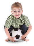 Small boy with football Stock Images
