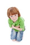 Small boy with freckles - looking up Royalty Free Stock Photography