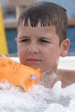 Small boy in jacuzzi Royalty Free Stock Image