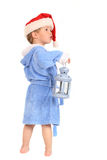 The small boy with lantern Royalty Free Stock Images