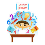 Small Boy Learning Child Preschool Education Concept Royalty Free Stock Image