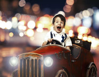 A small boy playing Royalty Free Stock Images