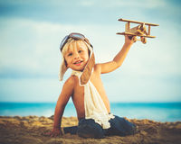 Small Boy Playing Royalty Free Stock Photos