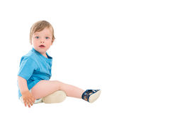 Small boy sitting on the floor Royalty Free Stock Photography