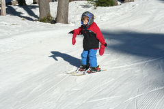 Small boy skiing Royalty Free Stock Image