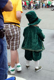 Small boy on St Patrick's Day Parade Stock Image