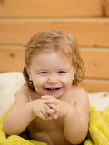 Small boy in towel Stock Image