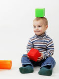 Small boy with toys Royalty Free Stock Image