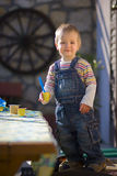 Small boy with toys Royalty Free Stock Photography