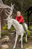 Small boy on vacation in the mountains Stock Images