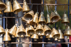 Small brass bells Stock Photo