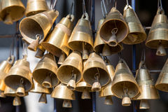 Small brass bells Royalty Free Stock Images