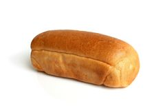 Small bread. On the white background Stock Image
