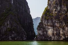 A break within the islands in Ha Long Bay Stock Photos