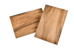 Small breakfast boards from wood Royalty Free Stock Images