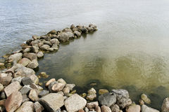 Small breakwater. Royalty Free Stock Photos