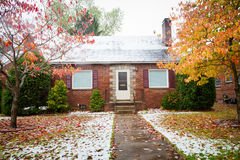 Small Brick Home royalty free stock photography