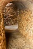 Small brick tunnel Stock Image